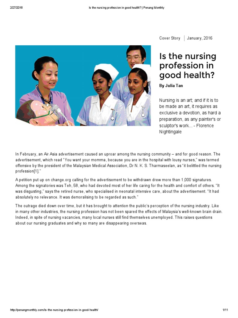 the relevance of the article by bramberg and sandman to the nursing profession