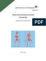 Historia de La Anatomia Animal Comparada