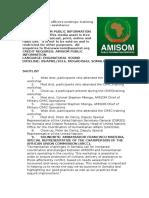 AMISOM officers undergo training on humanitarian assistance
