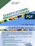TEMA5. CLASIFICACIONES PRESUPUESTARIAS.