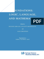 Elliott Mendelson - Foundations Logic, Language and Mathematics