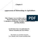 Applications of Meteorology to Agriculture