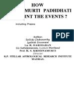 Jyotish How K P Pinpoint Events Prasna K HARIHARAN