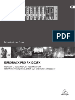 User Manual Behringer RX1202FX