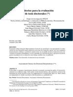[2008] Criterios Para Evaluar Tesis Doctorales - López, J.