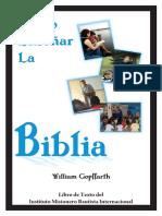 Como Enseñar La Biblia