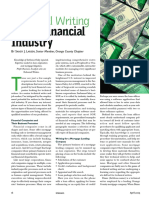 Technical Writing in the Financial Industry