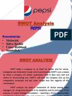 swot analysis pepsi