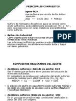 5.0 Azufre - Nitrogeno Compuestos