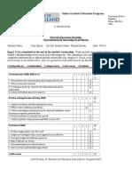 completed supervisor assessment