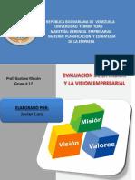 Javier Lara. Trabajo Evaluacion de Mision y Vision