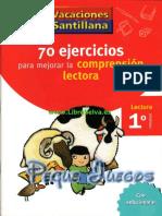 70 Ejercicios Para Estimular La Comprension Lectora 1 Basico