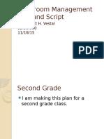 classroom management plan and script