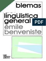 Problemas de Lingüística General II BENVENISTE