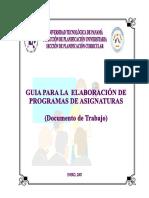 U. Tecnológica Panamá -Guía Elaboracion Programas