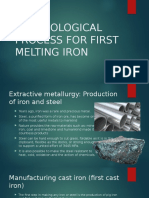 Technological Process for First Melting Iron