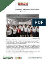 2016-04-09 Campo Moderno y Competitivo, Ofrece Enrique Serrano Al Sector Agropecuario