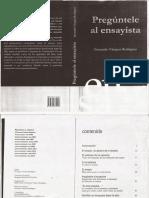 Preguntale Al Ensayista