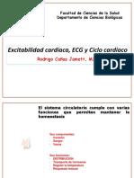 Excitabilide  Cardíaca ECG y Ciclo Cardiaco BO372 201510