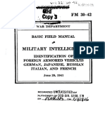 US Army FM 30-42 Foreign AFV 1941