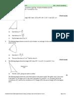 SL Math Trig Practice Sheet 1