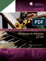 PROSPECTO 2016 conservatorio nacional de musica peru