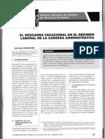 El Descanso Vacacional en El Régimen Laboral de La Carrera Administrativa - José María Pacori Cari063