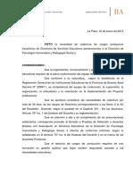 Disp. N⺠03-15 Directivos Modalidad Psicologia