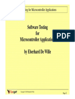 software testing for microcontroller aplications