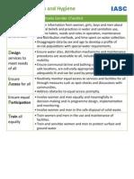 IASC Gender WASH-Checklist