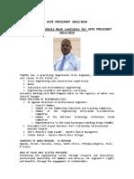 Profile - Eng. Timothy Mubbala Noah