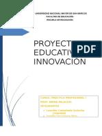 Proyecto Educativo de Innovacion Actu