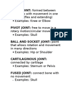 joint definitions  2