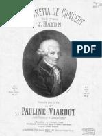 Viardot-Haydn - Canzonetta de Concert SQ17 - ARRvpf-BDH