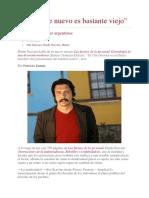 Patricio Zunini, Reportaje a Dardo Scavino Sobre Las Fuentes de La Juventud