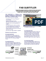FAB Subtitler Brochure