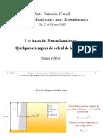 Exemples de Calcul à La Poussée. Gilbert HAÏUN
