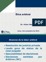 Etica y Responsabilidad de Los Arbitros