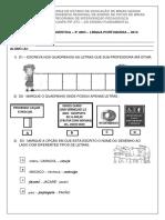 Diagnóstica Língua Portuguesa - 3º Ano