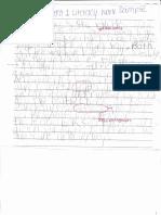 student 1 literacy work sample