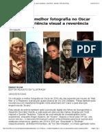 1. Indicados a melhor fotografia no Oscar vão de experiência visual a reverência - 24_02_2016 - Ilustrada - Folha de S.Paulo