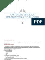 Cartera de Servicios Mercadotecnia y Publicidad