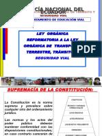 leyorganicadereformaalaleyorganicadetransporteterrestretransitoyseguridadvial-131210215700-phpapp02.ppt