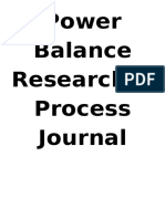 power balance research and process journal 2016