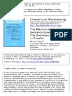 International Peacekeeping the Bakara Market