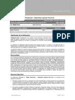 Industrias Lcteas Toni Papel Comercial 201405 Fin
