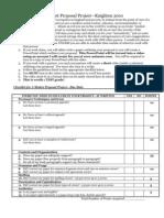 A Modest Proposal Project Checklist 2010