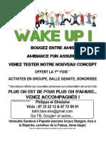 Wake Up Invitation Gratuite Fitness