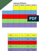literacy stations chart