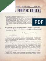 El parlamentarismo en la constitución política de Chile